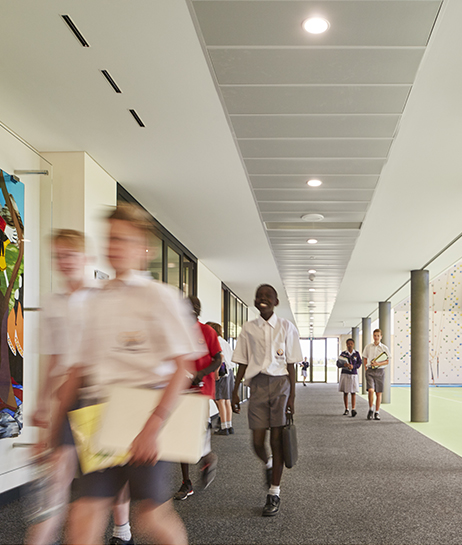 Irene McCormack Catholic College Gymnasium Parry and Rosenthal Architects