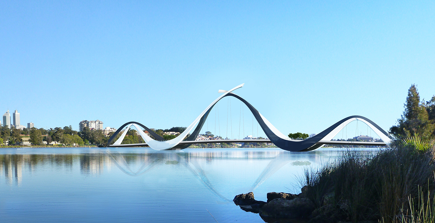 Swan River Pedestrian Bridge Parry and Rosenthal Architects