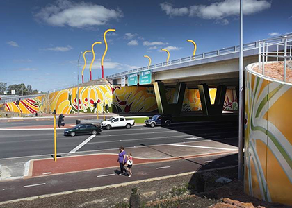Great Eastern Highway Roe Highway Interchange Parry and Rosenthal Architects